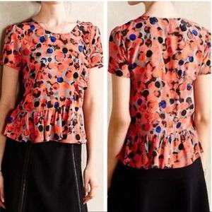 Anthropologie HD in Paris abstract dots silk top